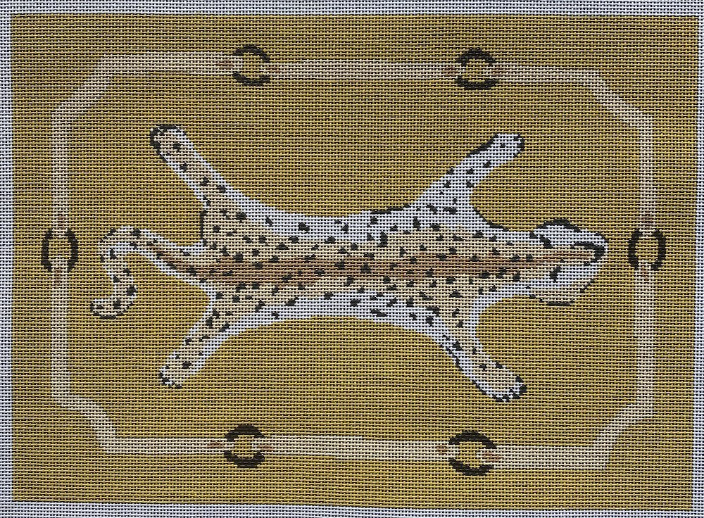 Leopard Clutch- Yellow