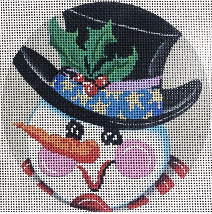 Round, Snowman with top hat