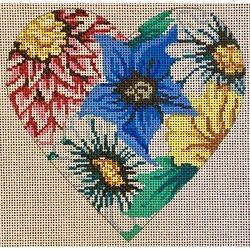heart, fancy floral