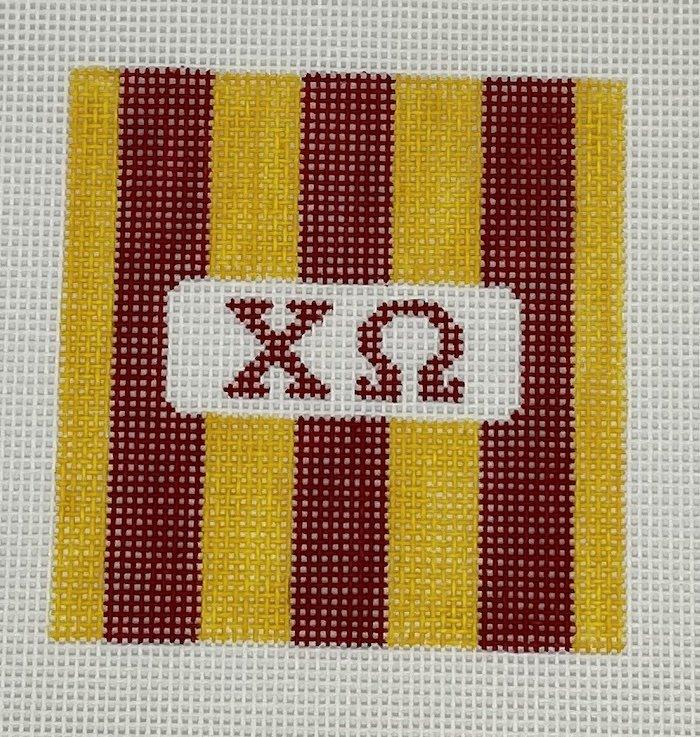 3 Rugby stripe square-Chi Omega