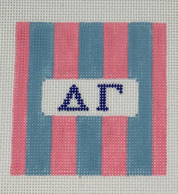 3 Rugby stripe square-Delta Gamma
