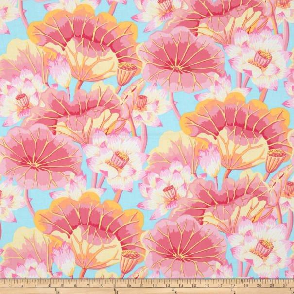 Kaffe Fassett - Classics - Lake Blossoms - Pink