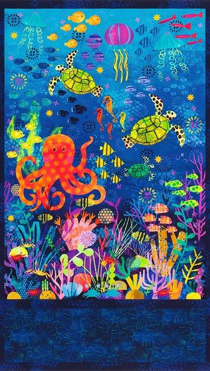 Octopus Garden Panel AASD-18775-59 OCEAN