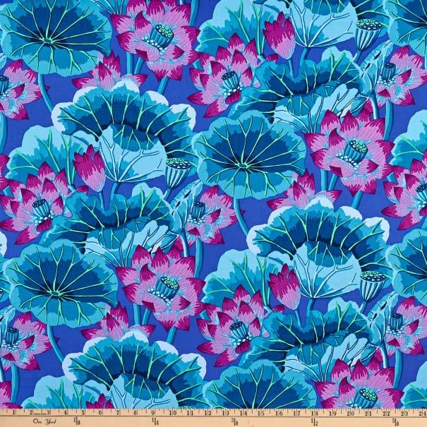 Kaffe Fassett - Classics - Lake Blossoms - Blue