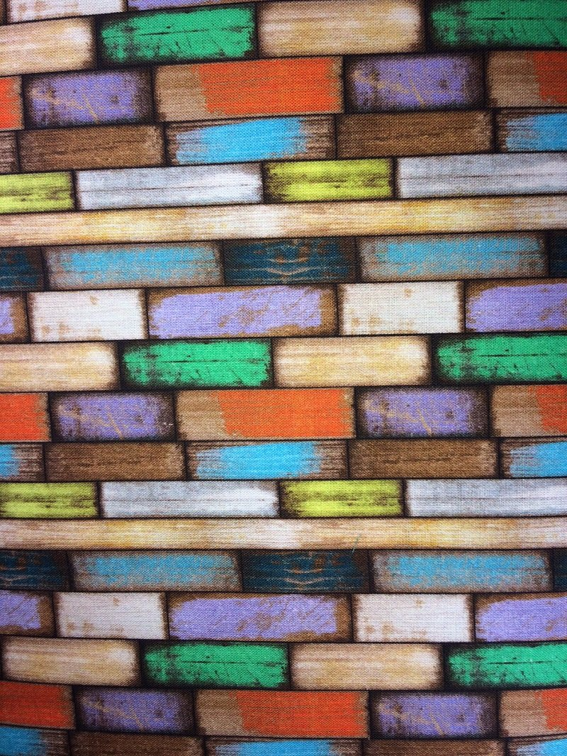 L-Santorin multi colored wood planks