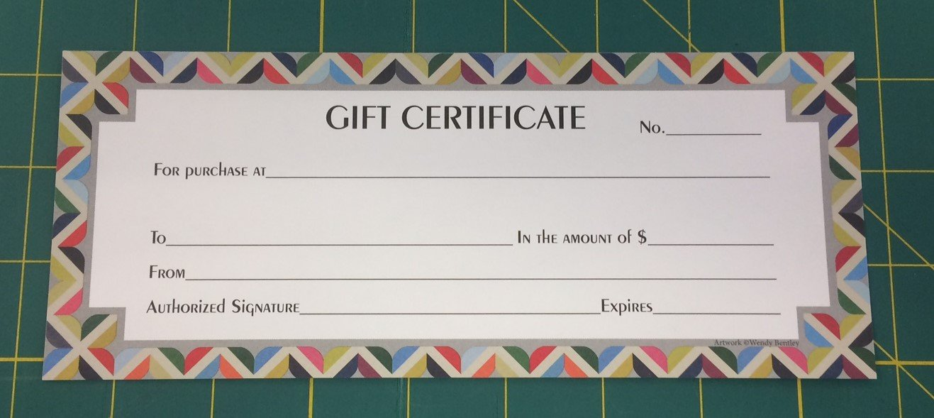 $10 Gift Certificate for In-Store Shopping