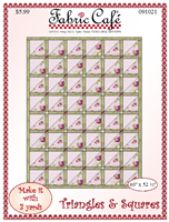 3-Yard Quilt Pattern Triangles and Squares