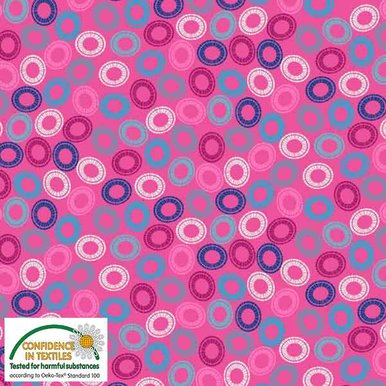 Blank S-Quilters Multi Circles Pink 4518-055