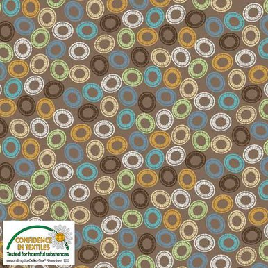 Blank S-Quilters Multi Circles Taupe 4518-059