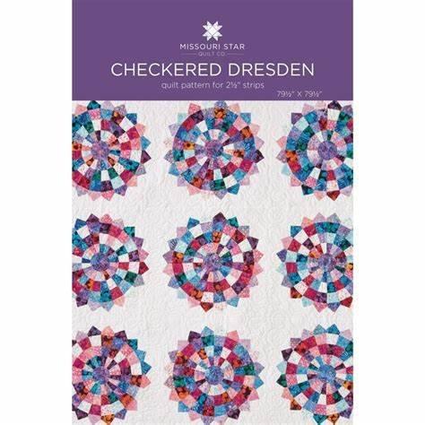 Checkered Dresden Quilt Pattern