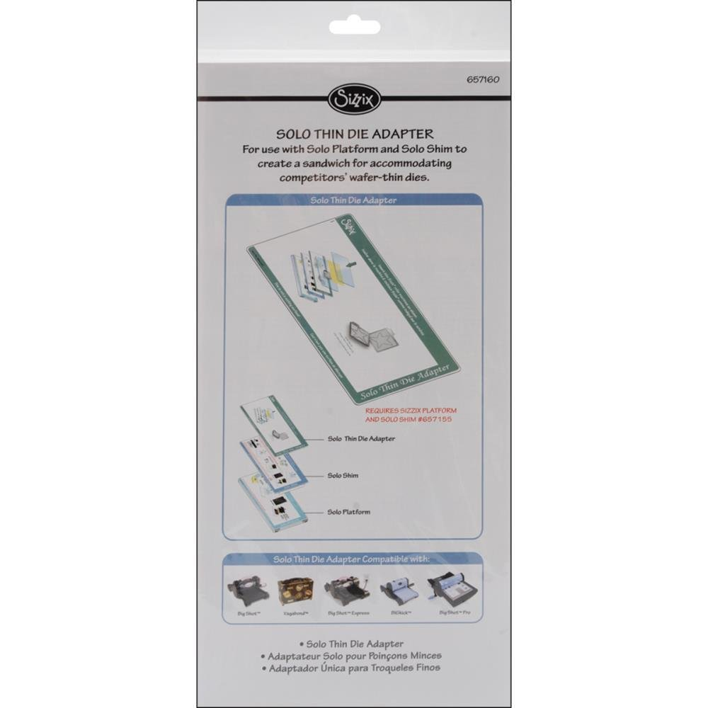 Sizzix Solo Wafer-Thin Die Adapter 6.25' x 13' x 1.25'