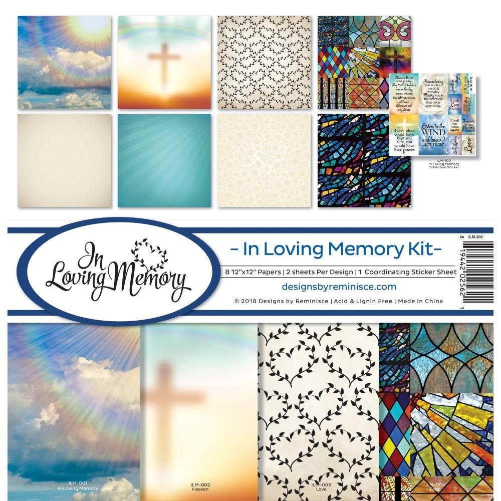 Reminisce Collection Kit 12'x12' - In Loving Memory