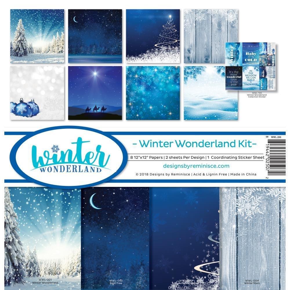 Reminisce Collection Kit 12'x12'  - Winter Wonderland
