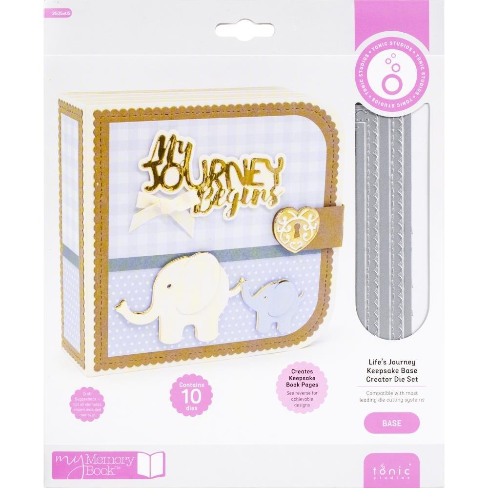Tonic Studios My Memory Book BASE Creator Dies - Life's Journey 10/Pkg