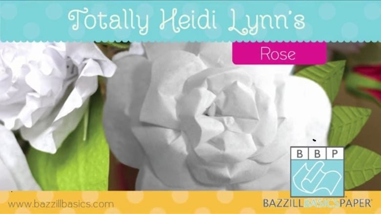 Bazzill - Totally Heidi Lynn's - Paper Crafting Pattern - Rose