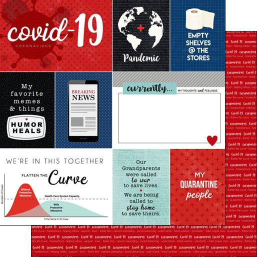 Scrapbook Customs Covid-19 Journal DS Paper
