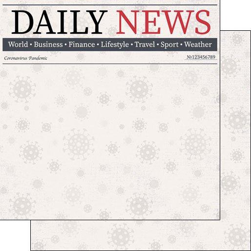 Scrapbook Customs Paper - Covid-19 Daily News