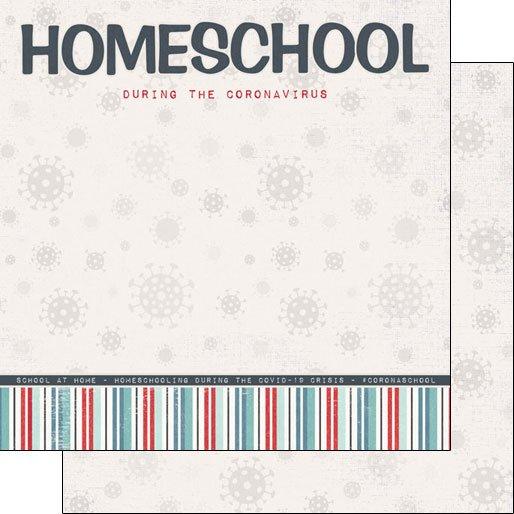 Scrapbook Customs Paper - Covid-19 Homeschool Title