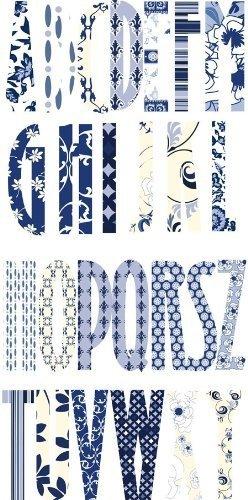 Fancy Pants 12x12 Die Cut Sheet - Monogram Letter Provincial Fare