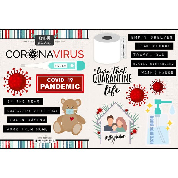 Scrapbook Customs - Covid-19 Sticker Pack 2/Pkg