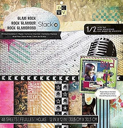 DCWV Paper Stack 12'x12' - Glam Rock