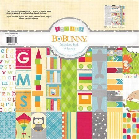 BoBunny Collection Pack 12'x12' - Toy Box
