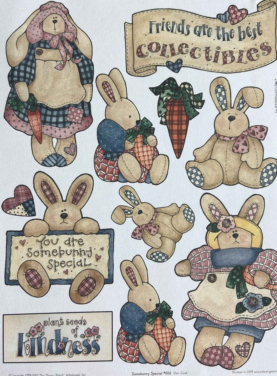 Beary Patch Cut Out Sheet - Somebunny Special