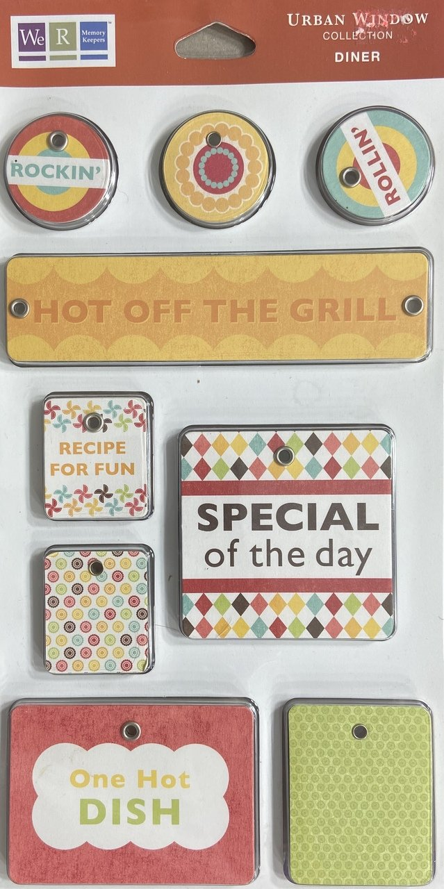 We R Memory Keepers Tag Line Embellishments  - Urban Window Diner
