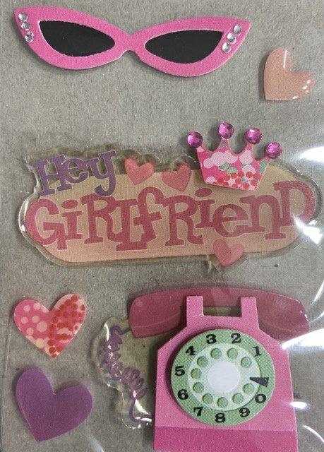 Dimensional Stickers - Hey Girlfriend