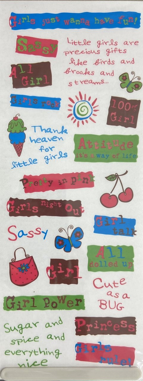 Scrapbook Rub-Ons - All Girl