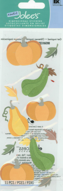 EK Jolees Boutique Dimensional Stickers - Fall Harvest
