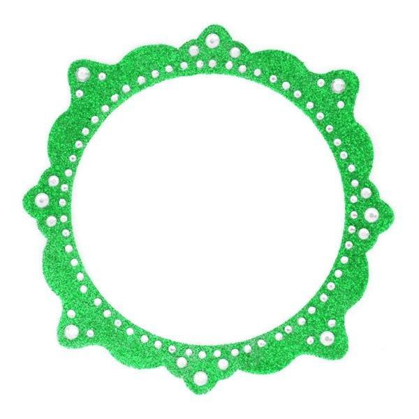 Making Memories - Glitter Bling  - Self Adhesive Frame - Artisan Green Circle
