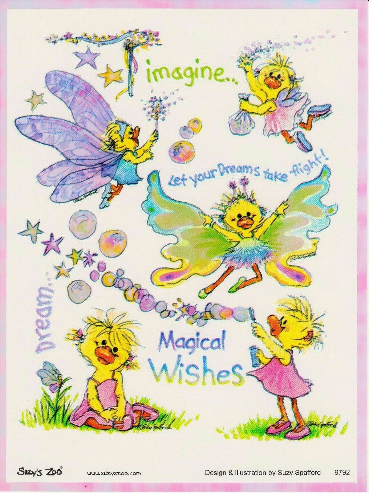 Suzy's Zoo - Iridescent Stickers - Magical Wishes 2 Sheets