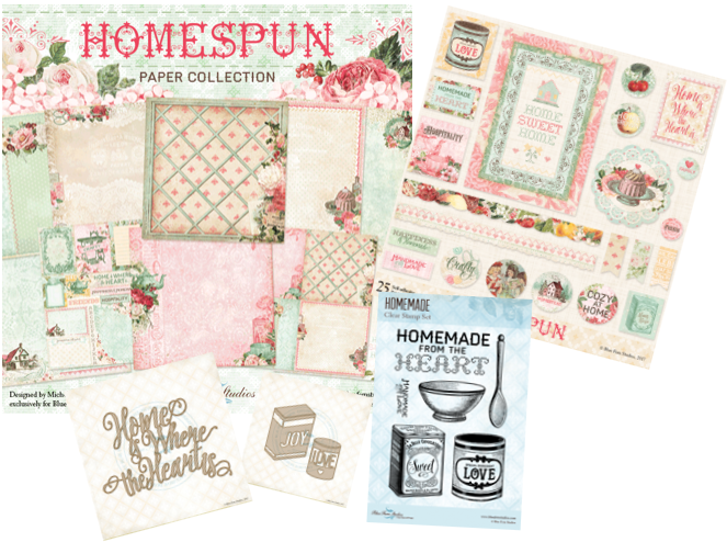 Blue Fern Studios - Homespun I Want It All Collection with Free Eclectic paper bonus.