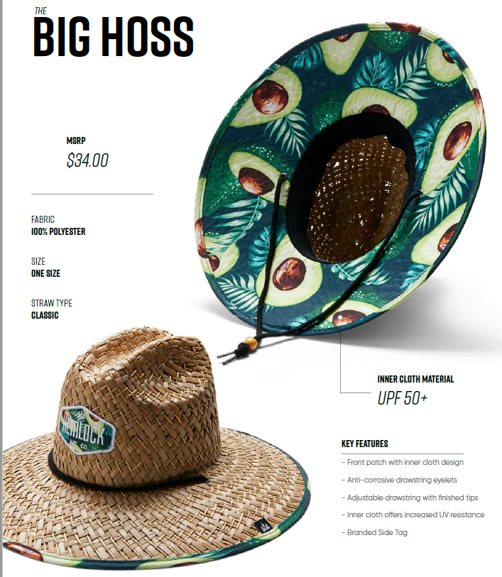 HEMLOCK Hat STRAW BIG HOSS