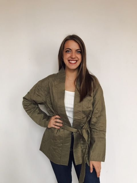 Billabong olive green quilted jacket