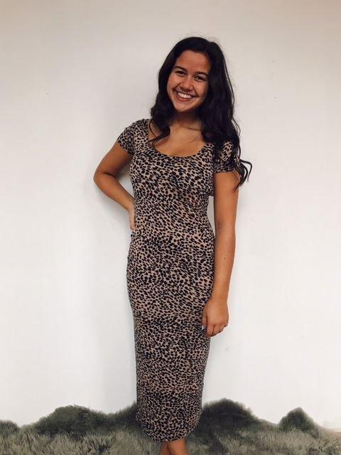 Billabong Leopard Midi Dress