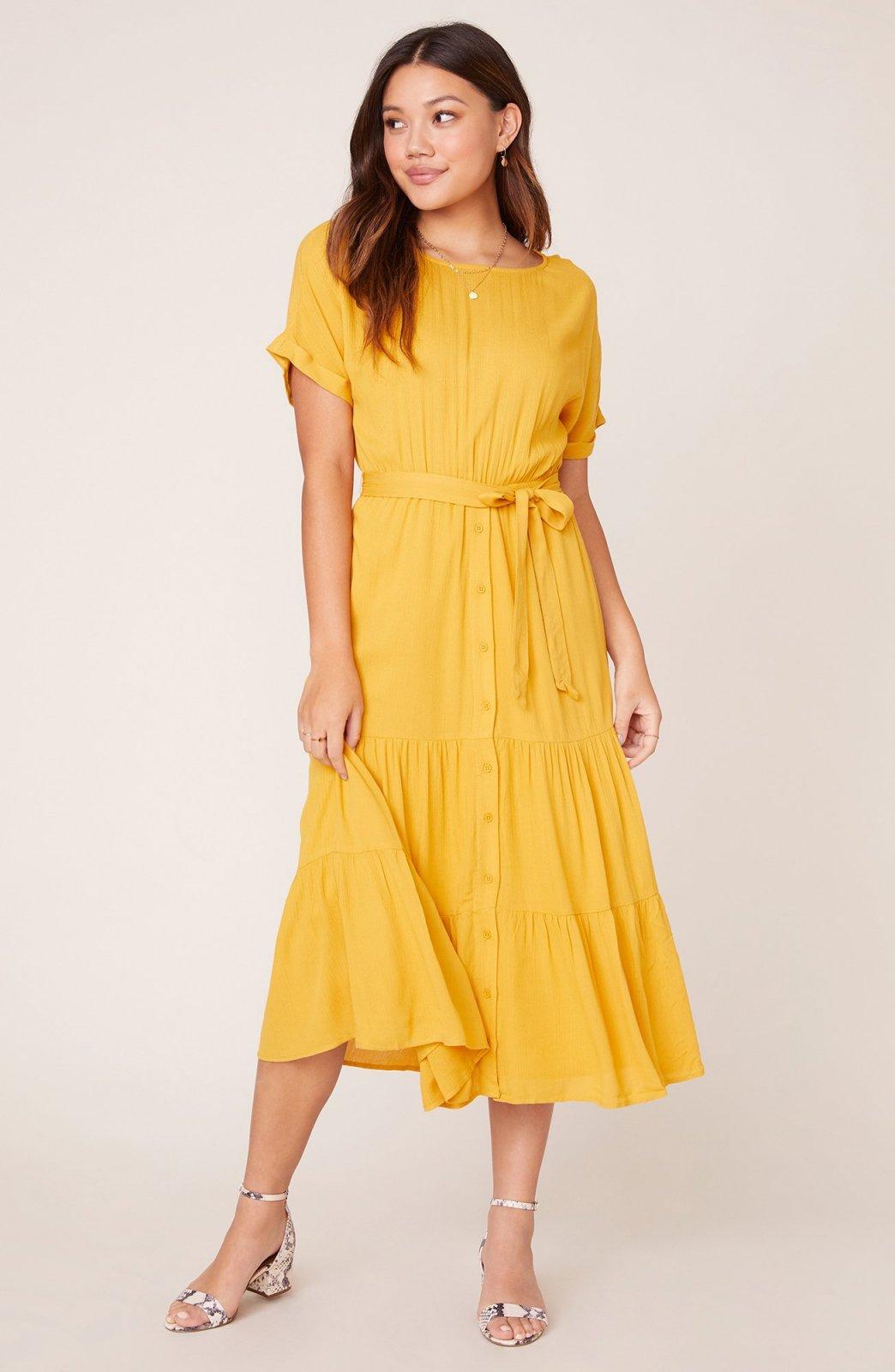 BB Dakota Mustard Yellow Dress