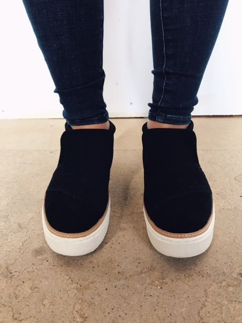 Toms Paxton Black Suede Shoe