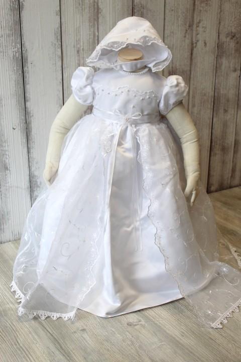 Lauren Madison Lace Peekaboo Baptism Gown