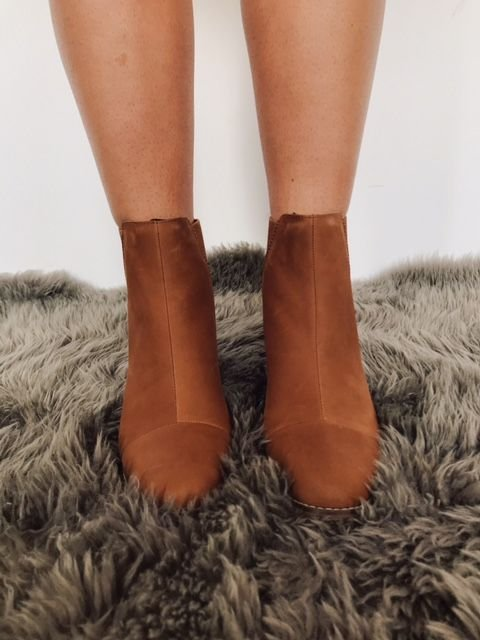 Toms Esme Cognac Leather Boot