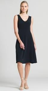 Clara Sun Woo Black A-Line Dress