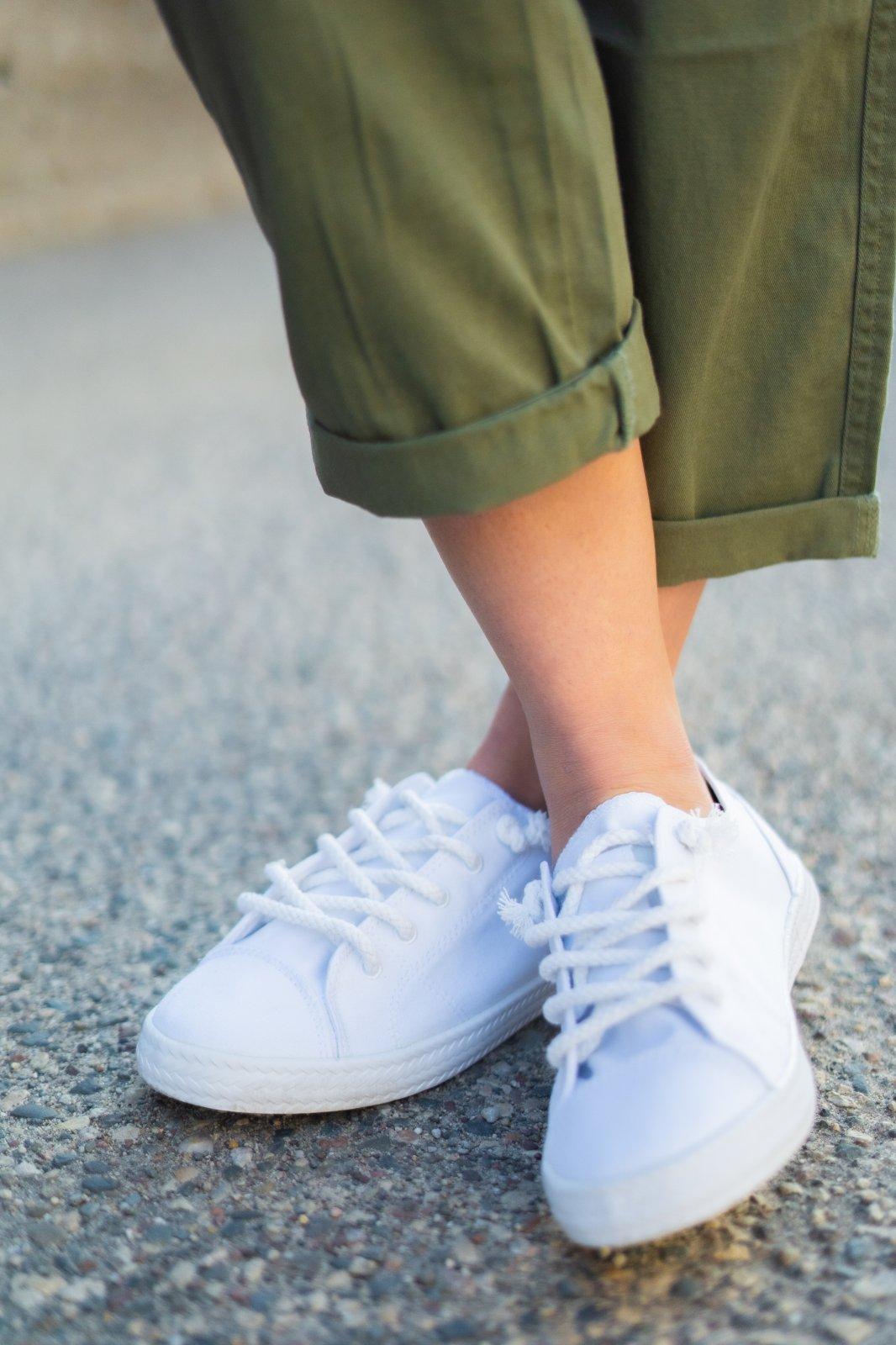 Billabong Marina White Lace Up Shoe