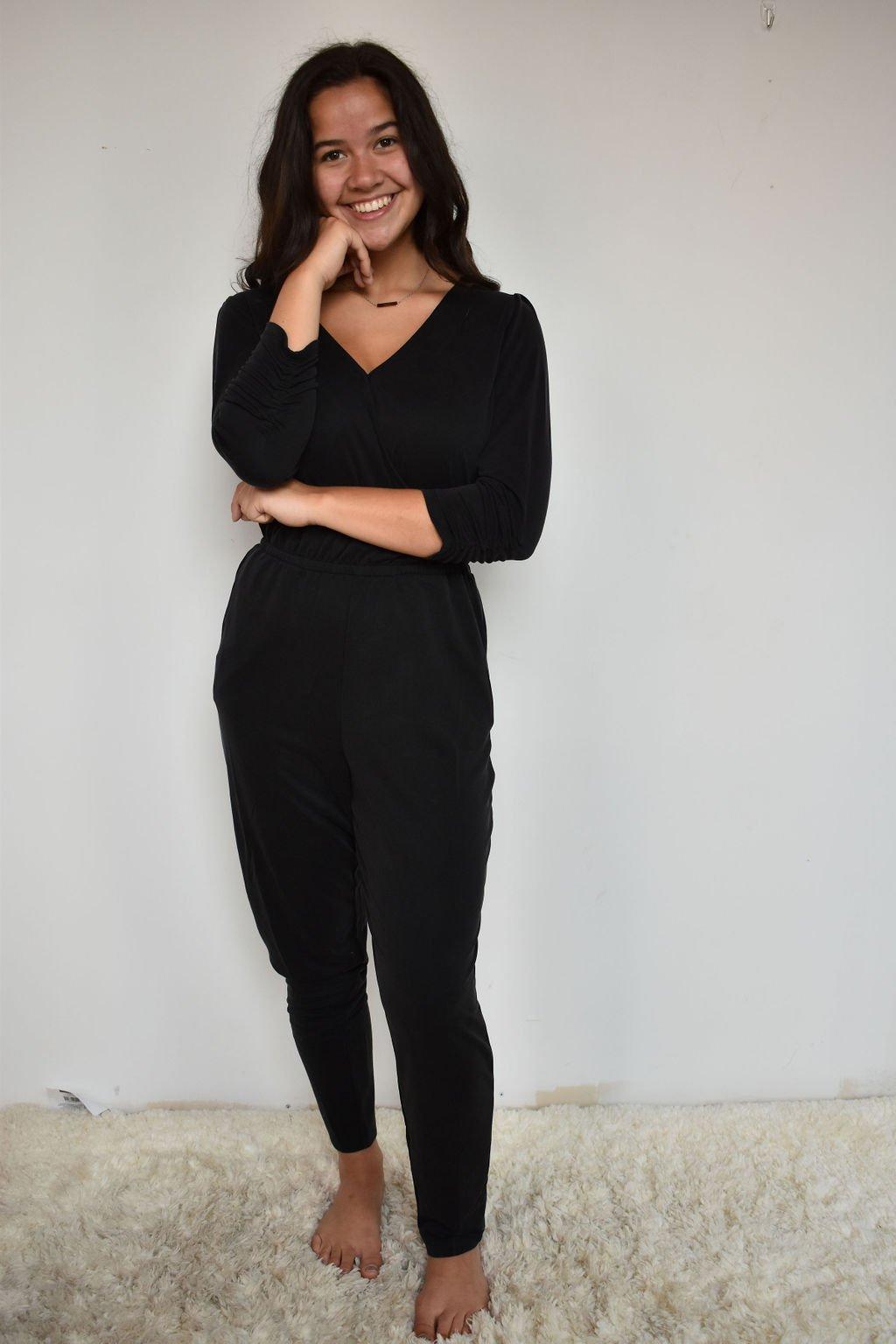 Gentle Fawn Agnes Black Jumpsuit
