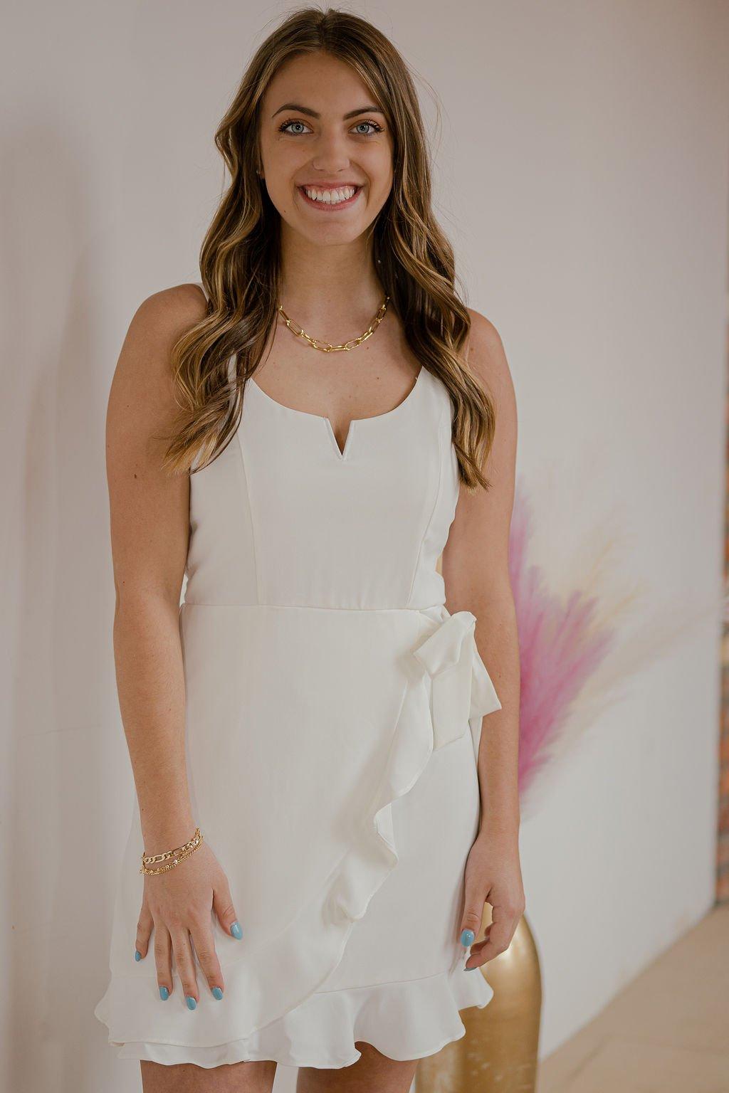 She + Sky Off White Dress