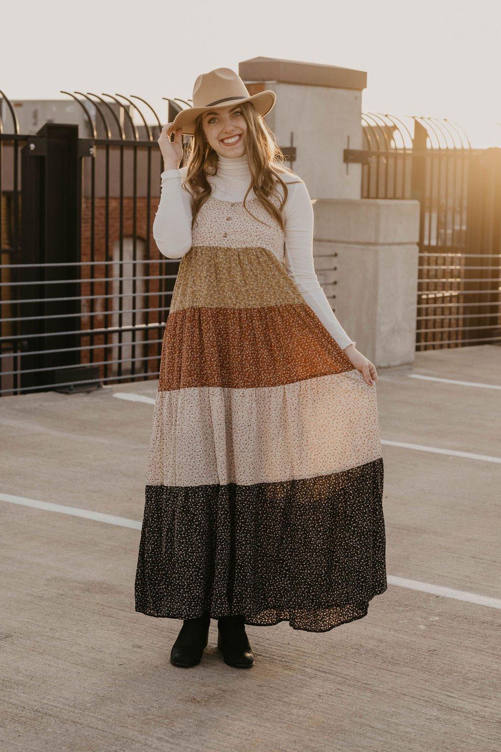 Akaiv Multi Print Maxi Dress