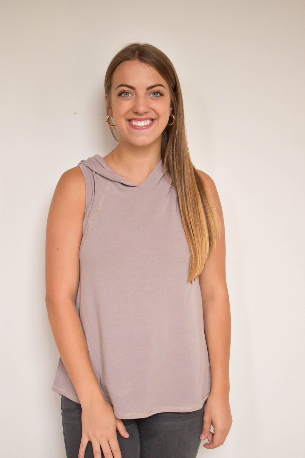 Charlotte Avery Mauve Tank Hoodie