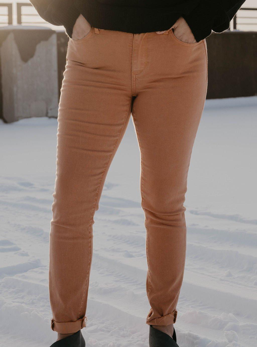 Cello Chestnut Skinny Straight Cut Pant