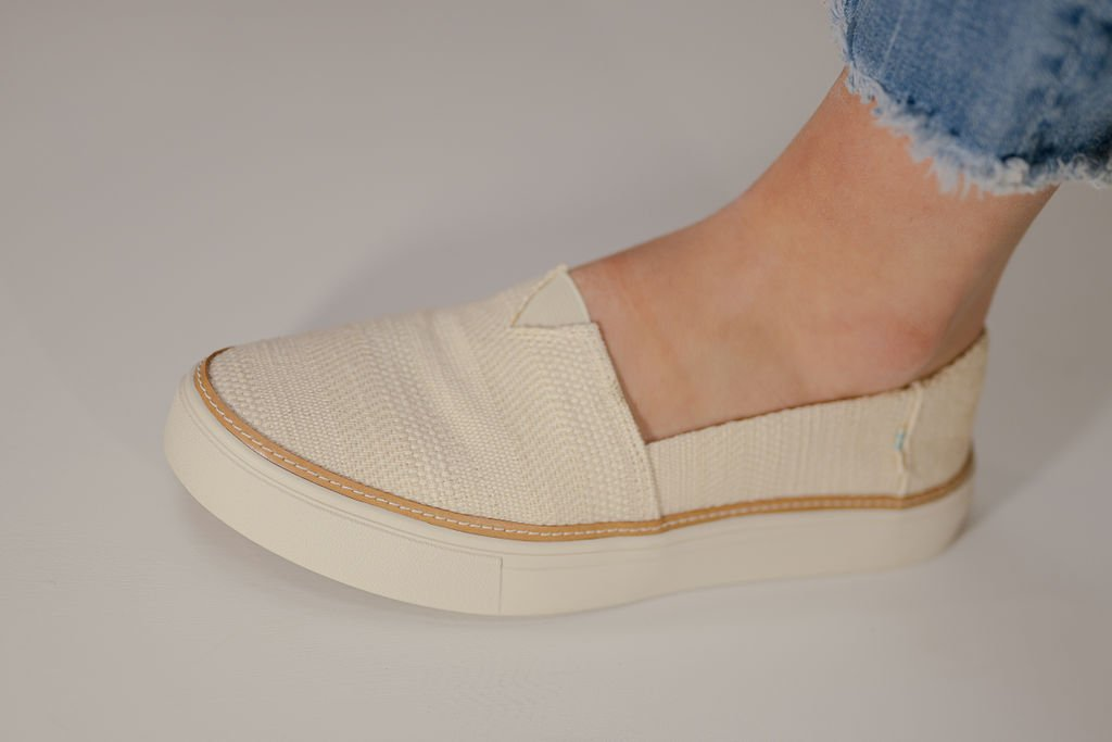 Toms Natural Textured Woven Parker Sneaker