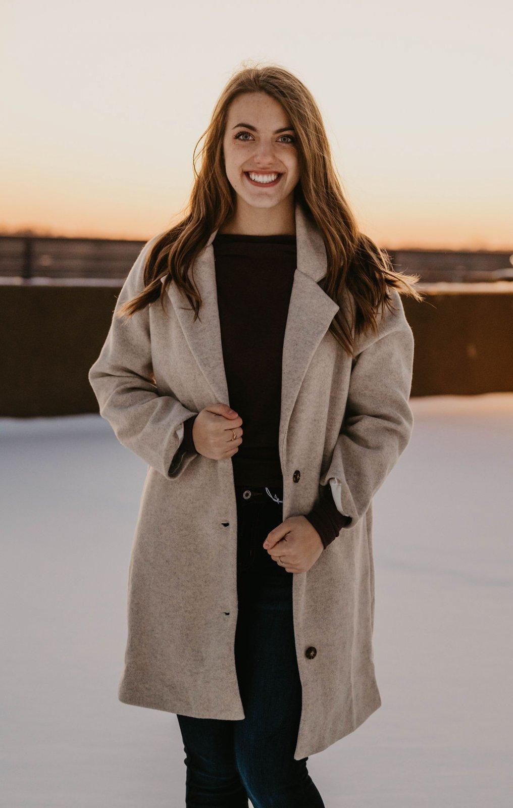 Lush Heathered Ivory Lined Coat